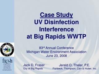 Contextual analysis UV Disinfection Interference at Big Rapids WWTP