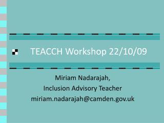 TEACCH Workshop 22