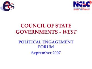 Board OF STATE GOVERNMENTS - WEST