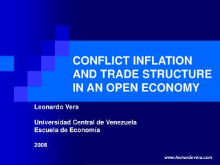 Strife INFLATION AND TRADE STRUCTURE IN AN OPEN ECONOMY