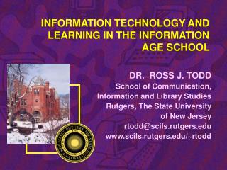 Data TECHNOLOGY AND LEARNING IN THE INFORMATION AGE SCHOOL