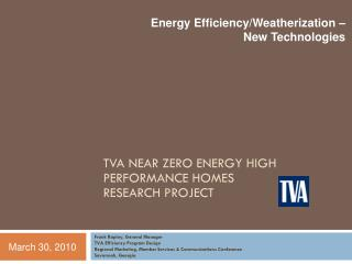 Forthcoming Rapley, General Manager TVA Efficiency Program Design Regional Marketing, Member Services Communications Co