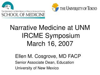 Account Medicine at UNM IRCME Symposium March 16, 2007