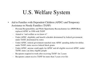 U.S. Welfare System