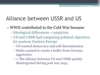 Partnership in the middle of USSR and US