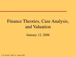 Account Theories, Case Analysis, and Valuation
