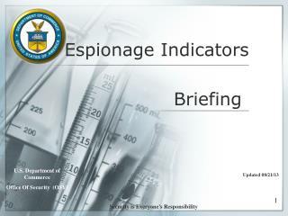 Surveillance Indicators