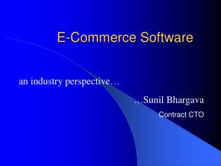 E-Commerce Software