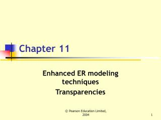 Upgraded ER displaying systems Transparencies
