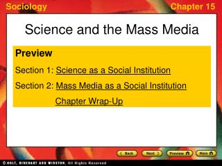 Science and the Mass Media