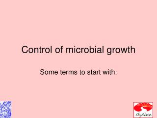Control of microbial development