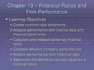 Section 13 Financial Ratios and Firm Performance