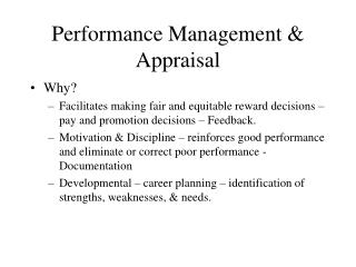 Execution Management Appraisal