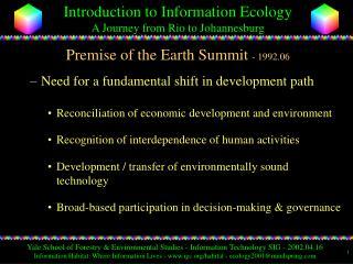 Reason of the Earth Summit - 1992.06