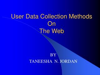 Client Data Collection Methods On The Web