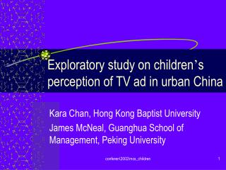 Exploratory study on youngsters s impression of TV commercial in urban China