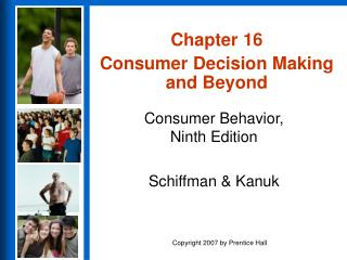 Part 16 Consumer Decision Making and Beyond