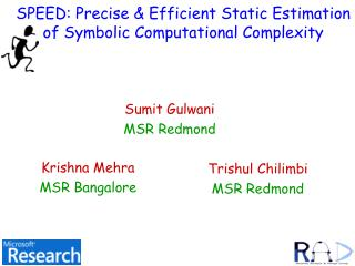 SPEED: Precise Efficient Static Estimation of Symbolic Computational Complexity