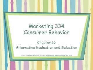 Promoting 334 Consumer Behavior