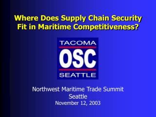 Where Does Supply Chain Security Fit in Maritime Competitiveness