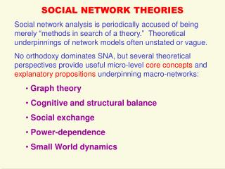 Informal organization THEORIES