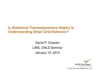 Is Statistical Thermodynamics Helpful in Understanding Smart Grid Behavior