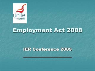 Work Act 2008