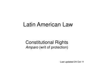 Sacred Rights Amparo writ of security