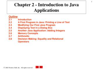 Part 2 - Introduction to Java Applications