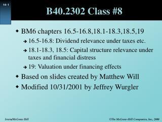 B40.2302 Class 8