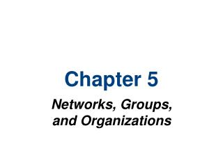 Systems, Groups, and Organizations