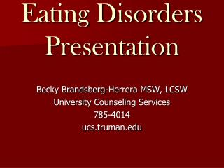 Dietary issues Presentation