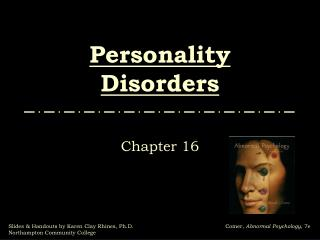 Identity Disorders