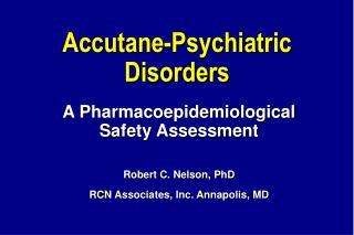 Accutane-Psychiatric Disorders
