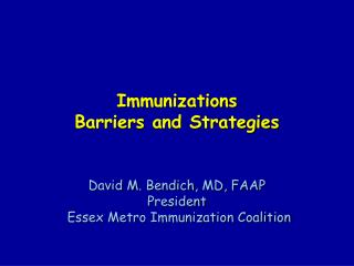Vaccinations Barriers and Strategies