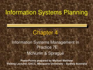 Data Systems Planning