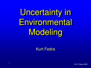 Instability in Environmental Modeling