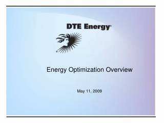 Vitality Optimization Overview May 11, 2009