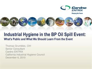 Modern Hygiene in the BP Oil Spill Event: Whats Public and What We Should Learn From the Event