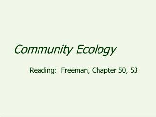 Group Ecology