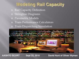 Rail Capacity Definition Stringline Diagrams Parametric Models Train Performance Calculators Train Dispatching Simulati