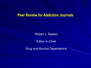 Companion Review for Addiction Journals