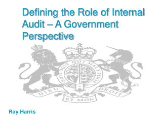 Characterizing the Role of Internal Audit A Government Perspective