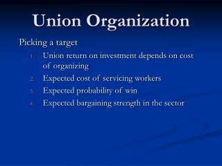 Union Organization