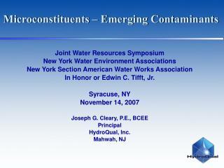 Microconstituents Emerging Contaminants