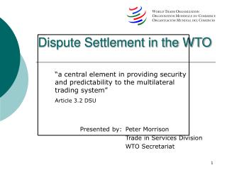 Question Settlement in the WTO