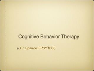 Intellectual Behavior Therapy