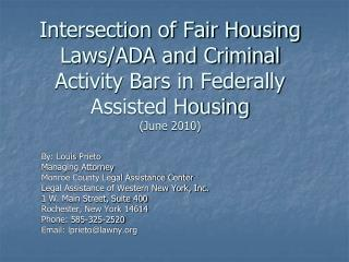 Crossing point of Fair Housing Laws