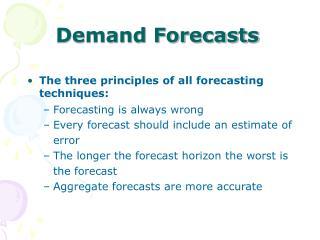 Interest Forecasts