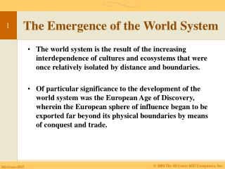 The World's Emergence System